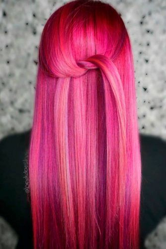 Pinky Rainbow #longhair #straighthair #colorfulhair