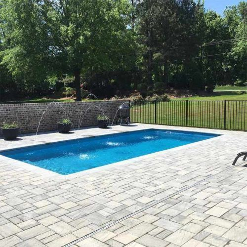 Islander Pool With Techo Eva Pavement #bacyardpool