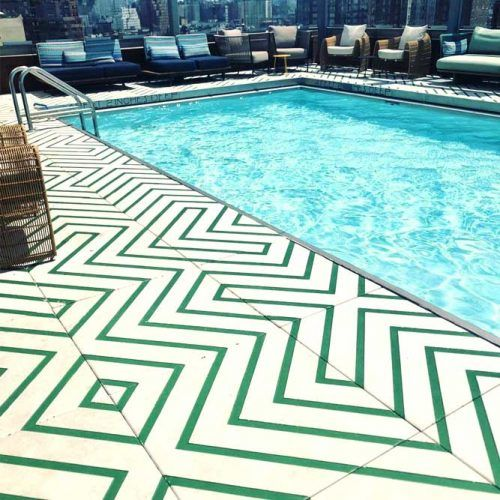 Patterned Tiles For Pool Deck Decor #patternedtile