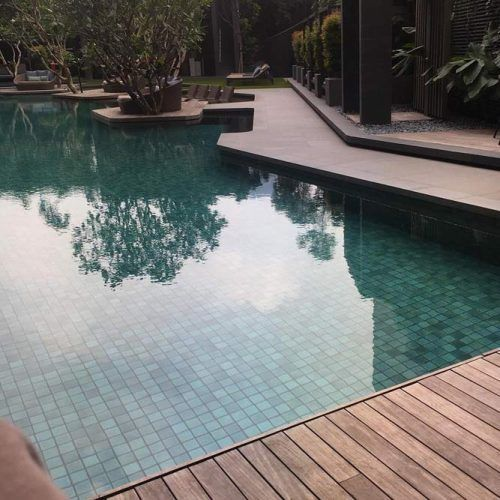 Wooden Pool Deck Design #woodendeck