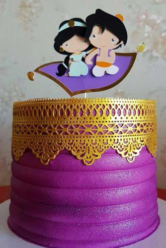 Aladdin Themed Cake Topper #aladdin #aladdincake