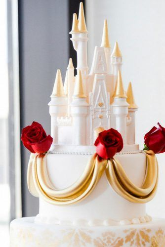 Fairytale Castle For Princess's Wedding Cake #weddingcake #toppers #cake
