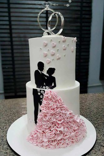 What Is A Topper On A Cake? #weddingcake #weddingrings