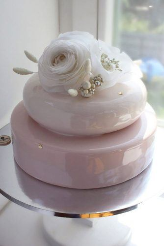 Simple But Elegant Rose Topper #flowercake #rosecake