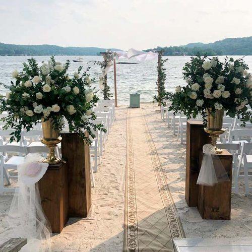 Beach Aisle Decoration #wedding #outdoorwedding