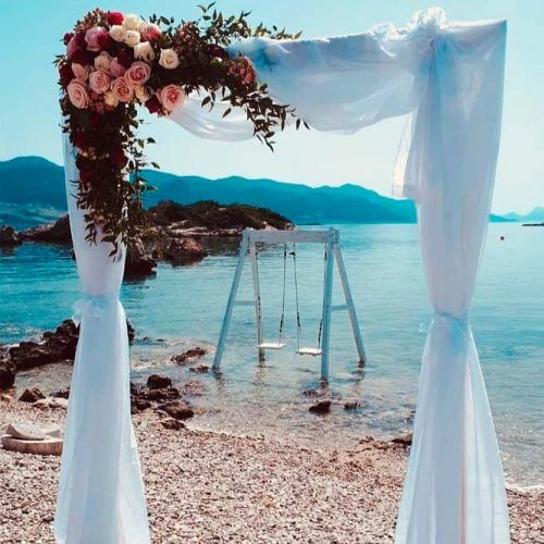 Romantic Outdoor Wedding Arch #weddingarch #outdoorwedding