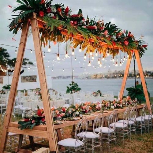Lights Of the Night #wedding #outdoornails