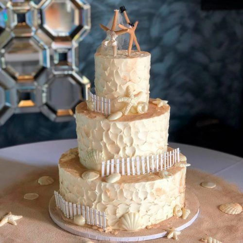 Awesome Ocean-Themed Wedding Cake #weddingcake #wedding