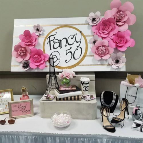 Chanel 50th Birthday Party Ideas #50thbdayparty