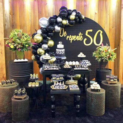 Black Minimalistic Theme For Birthday Party #blackbdaytheme