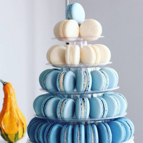 Colored Macaroon Tower Idea #birthdaypartyfood