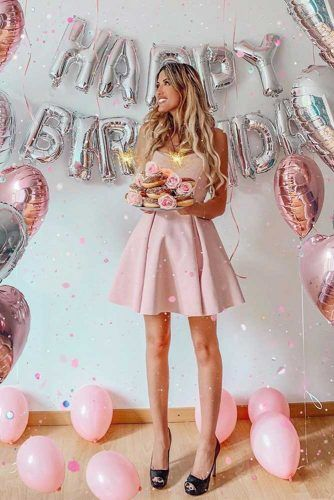 Birthday Party Idea For Girls #balloonsdecorations #bdayforher