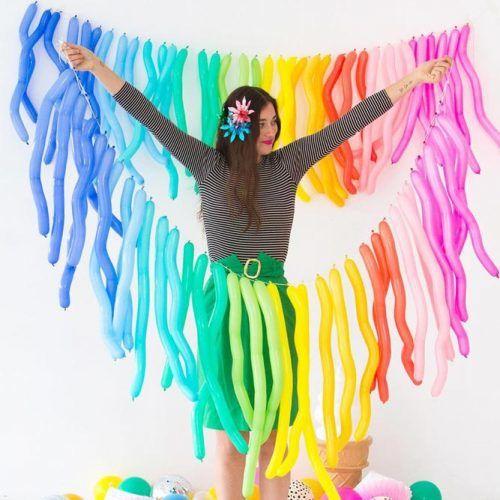 Long Balloons Garland #balloonsgarland