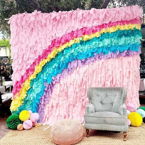 Rainbow Photo Zone #rainbowdecorations