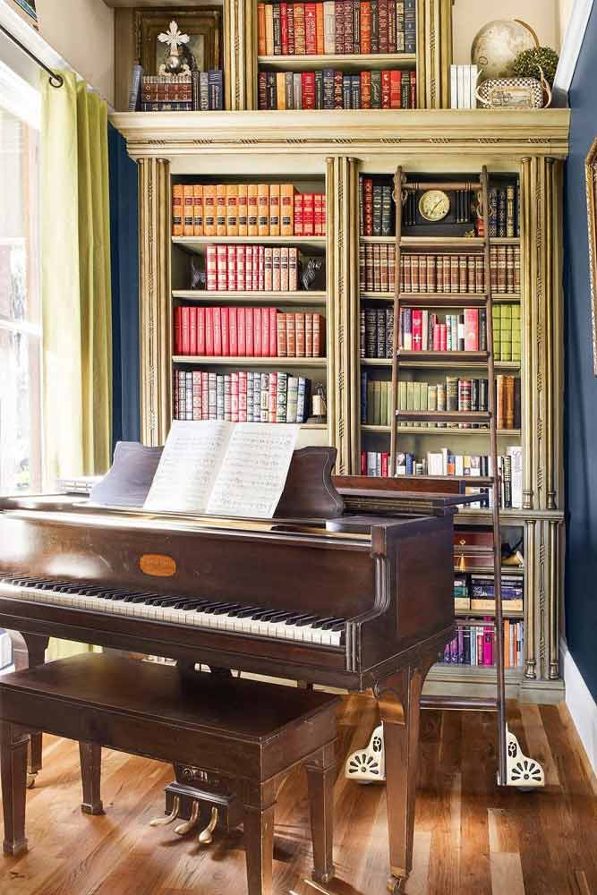 Tall Bookcase In Classic Style #library #tallbookcase