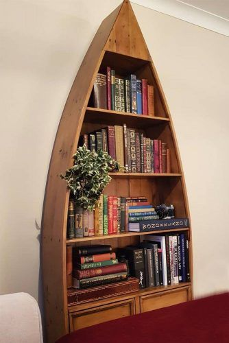 Boat Wooden Bookcase #boatbookcase