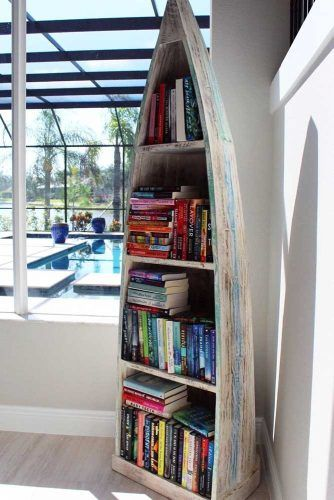Boat Bookcase Idea #boatbookcase