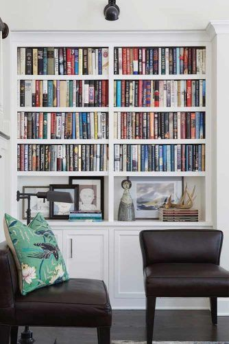 Build In Wall Bookcase With Cabinets #cabinets #buildinwall