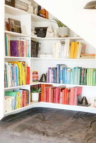 Under Stairs Bookcase Design #builtinbookcase