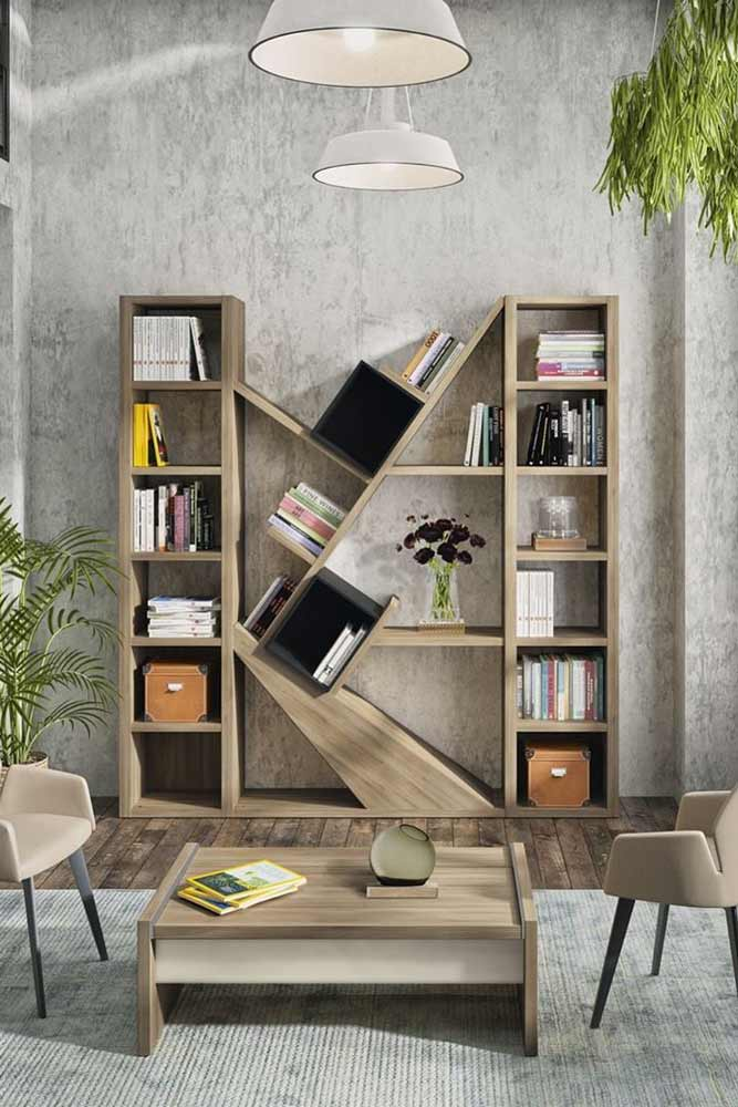Modern Wooden Bookcase #cubbies #woodenfurniture