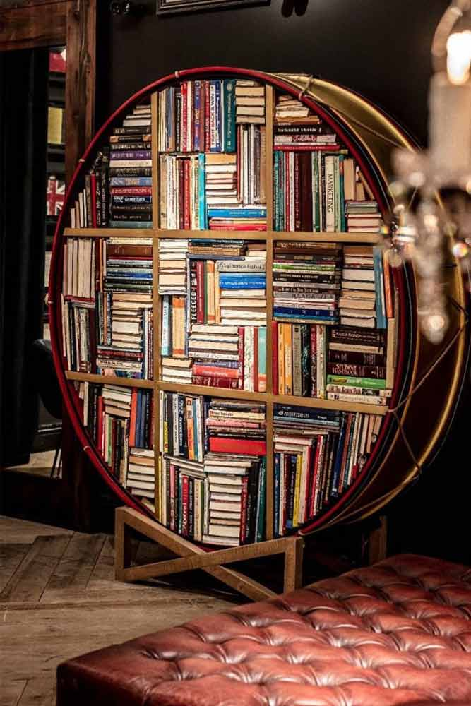 Drum Bookcase Luxe Furniture #drumbookcase