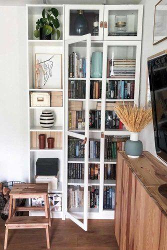 Bookсase With Glass Door #bookcasewithdoor