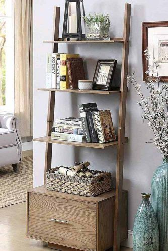 Ladder Bookcase #ladder #shelves