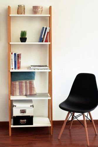 Ladder Bookcase Design #ladderbookcase