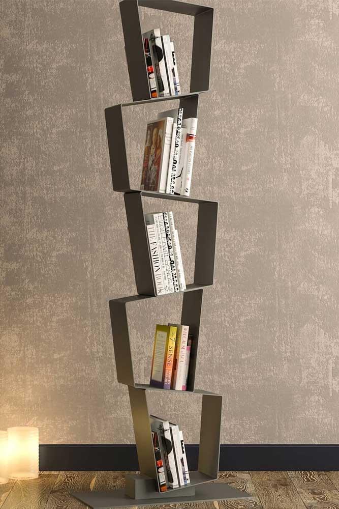 Modern Meatallic Geometric Bookcase #geometricbookcase