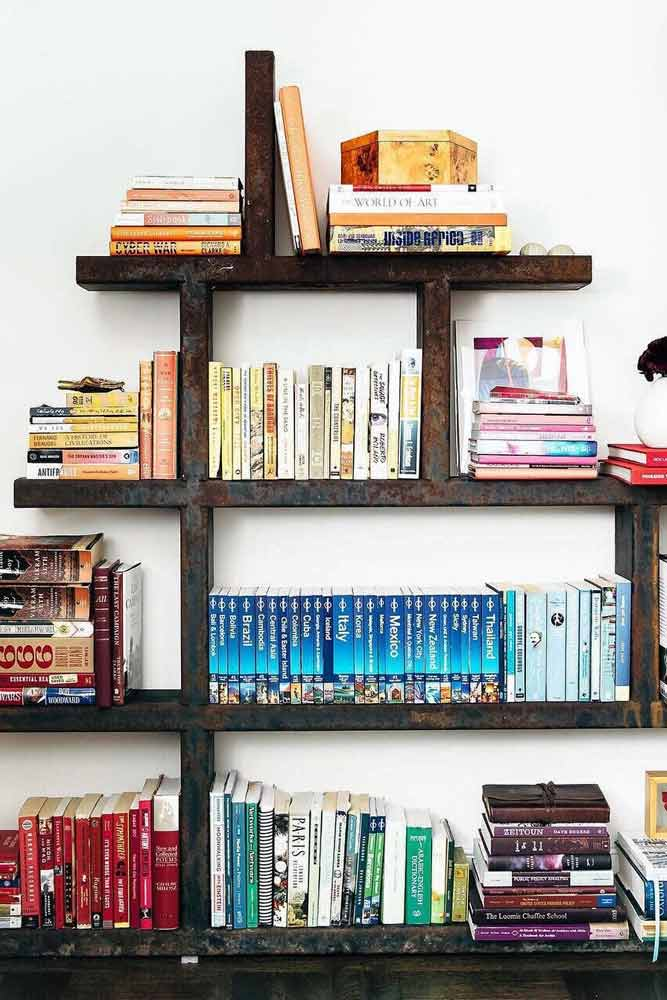 Simple Metal Bookcase #metalbookcase