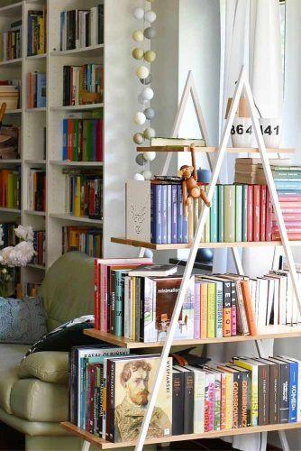 Triangle Wood Bookcase #trianglebookcase