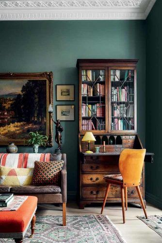 Vintage Bookcase With Secretary Desk #secretarydesk #vintagebookcase