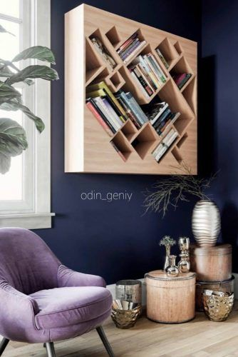 Cover In Cubic Bookcase #woodbookcase