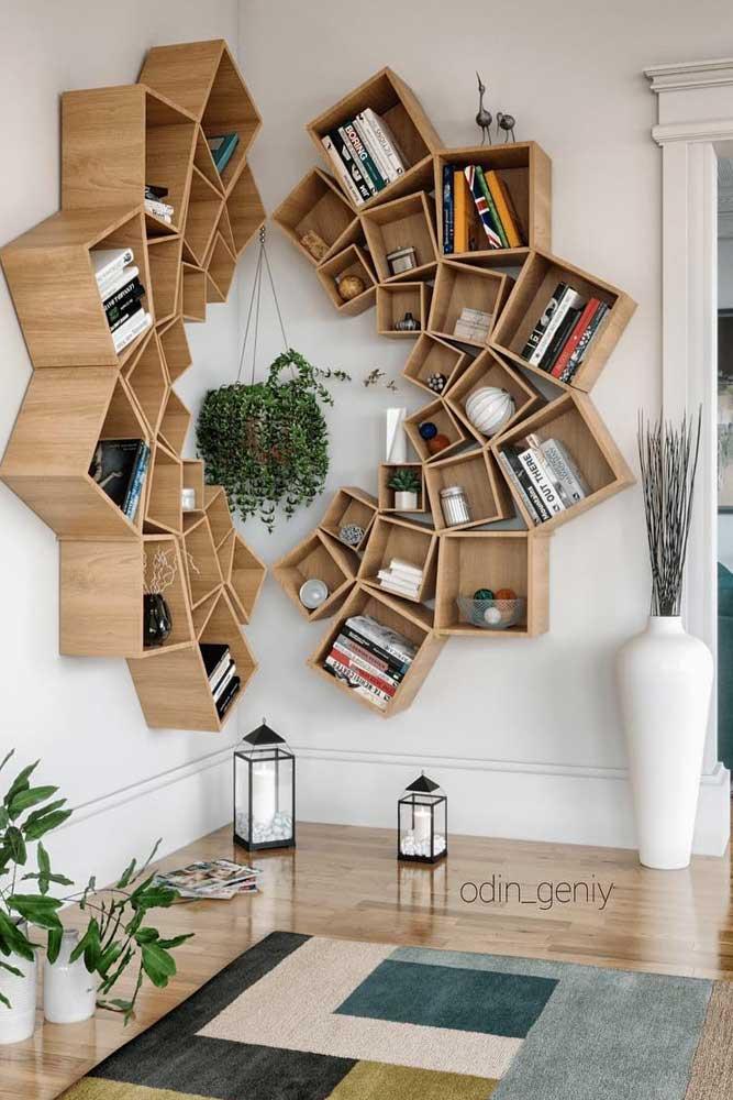 Wood Corner Mandala Bookcase #mandalabookcase
