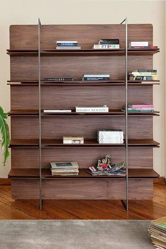 Modern Wood Bookcase #woodbookcase