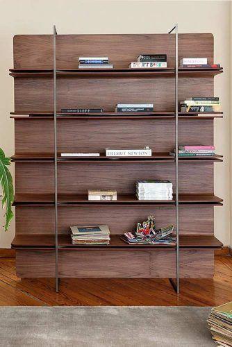 Modern Wood Bookcase #woodbookcase