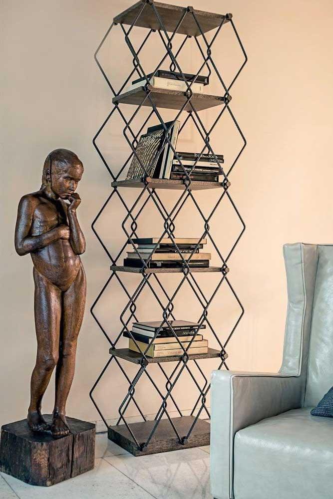 Vintage Metallic Bookcase Design #vintagebookcase