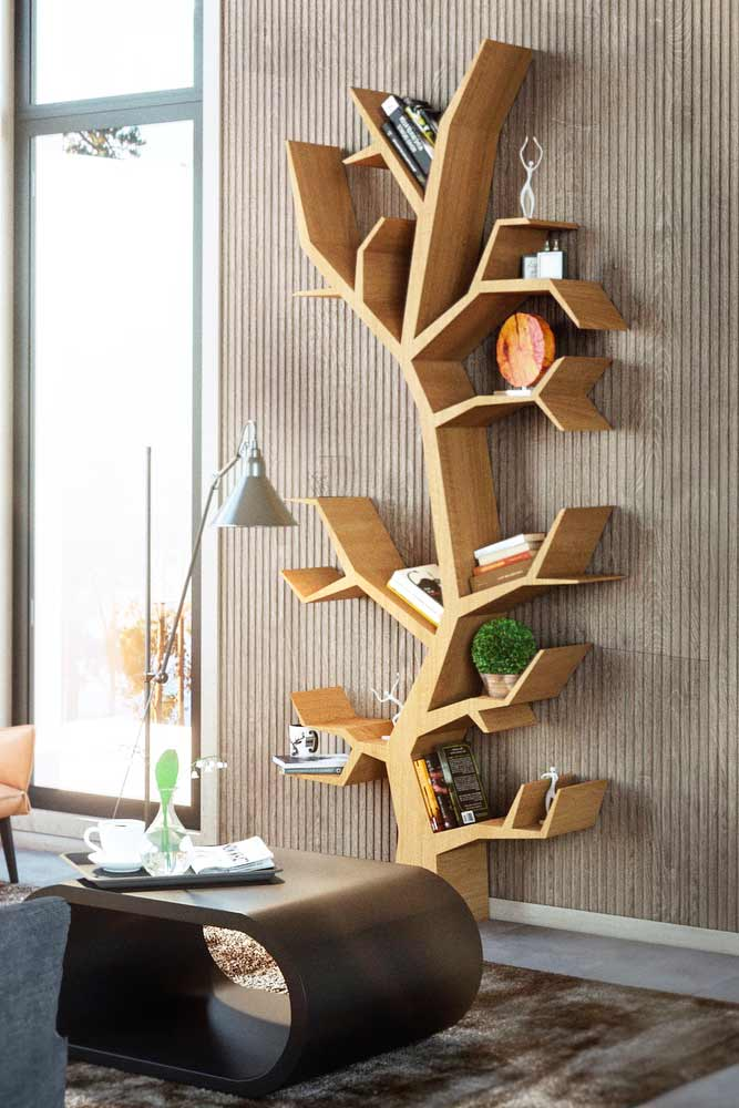 Wall Mounted Tree Bookcase Design #treebookcase