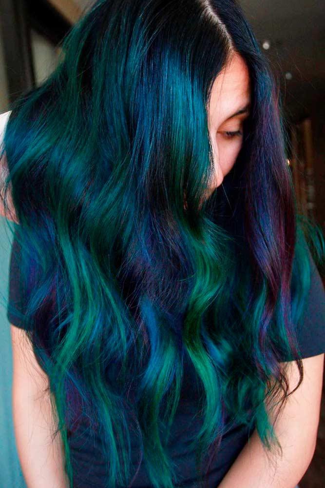 Gothic Mermaid #colorfulhair #hairhighlights