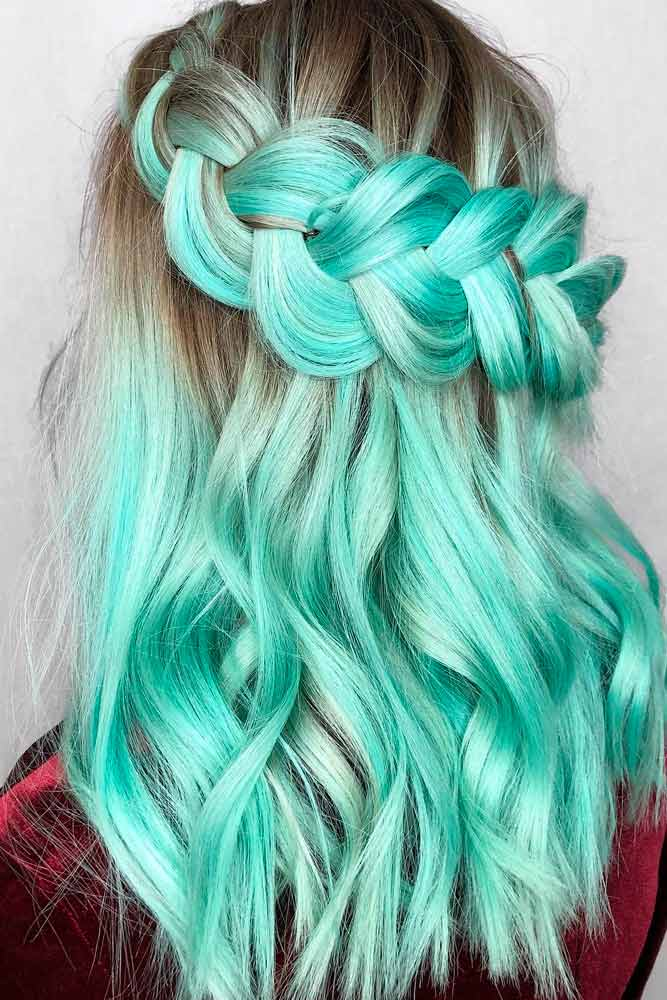 Mint Green Hair Shades #colorfulhair #minthair