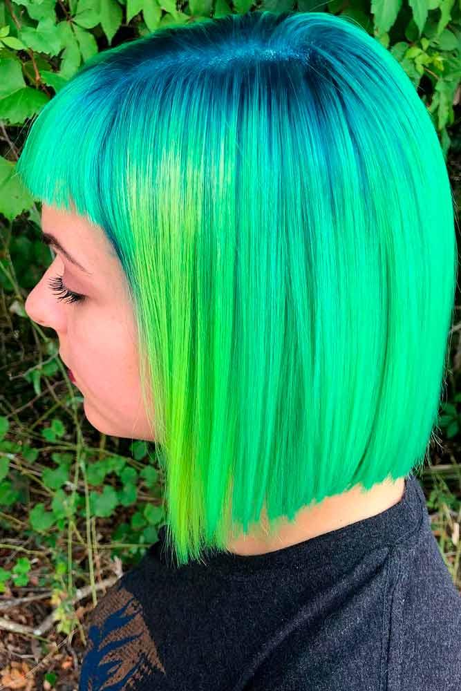 Neon Green #colorfulnails #brighthair