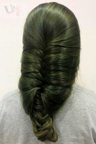 Olive Green Hair #colorfulhair #olivegreenhair
