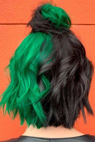 Two-Toned Parted Hair #colorfulhair #twotonedhair