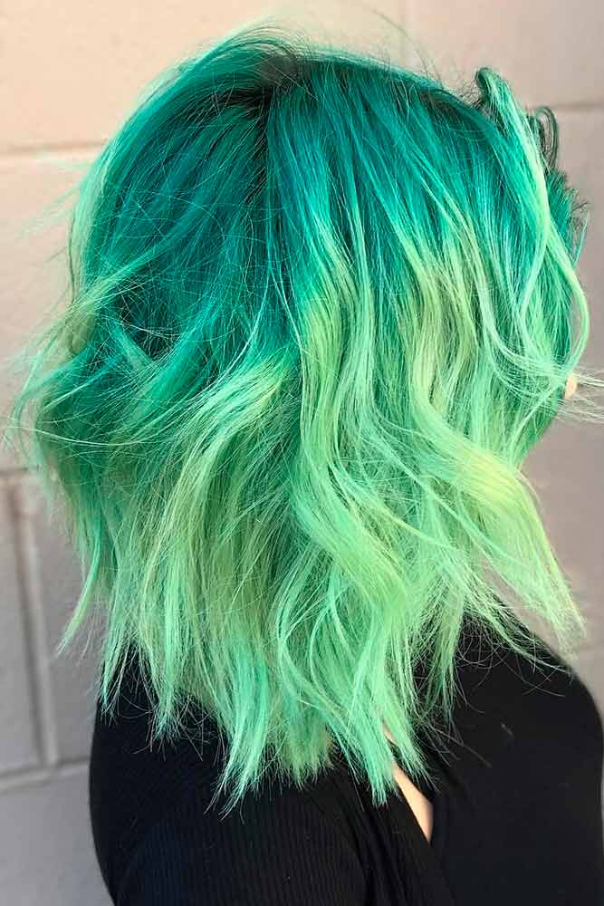 DIY Green Hair Color Upkeep #colorfulhair #ombrehair