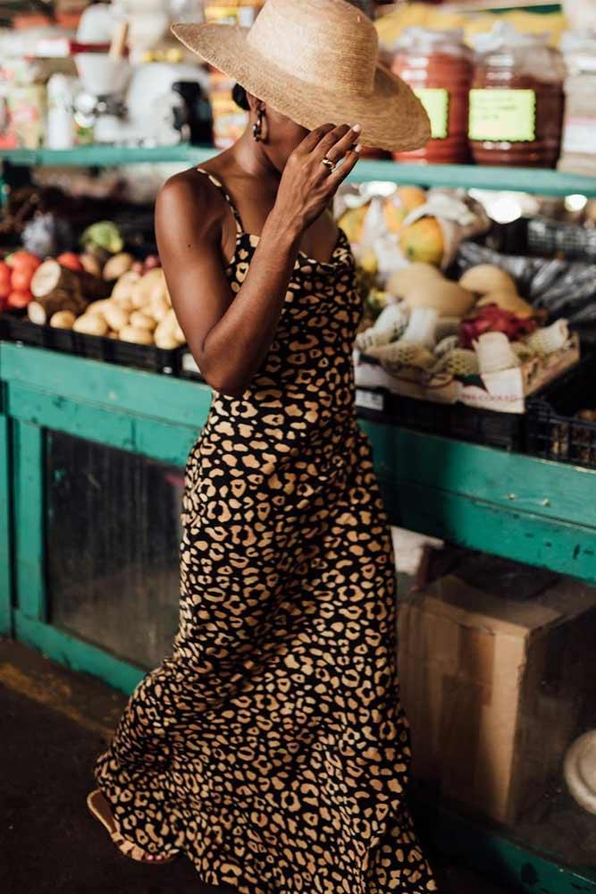 Maxi Summer Leopard Dress Outfit #summerdress #leoparddress