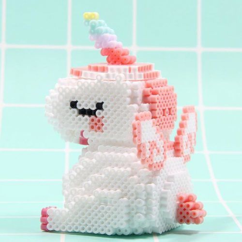 3d Perler Beads Unicorn Craft #3dcraft
