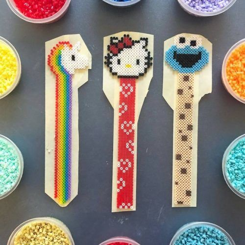 Bookmarks Perler Beads #craftbookmarks