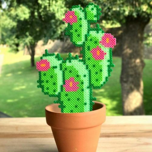 Cactus Perler Art #cactuscraft