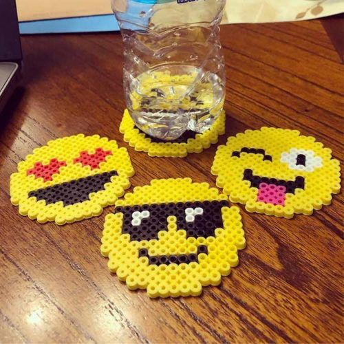 Emoji Perler Beads Idea #coasterset
