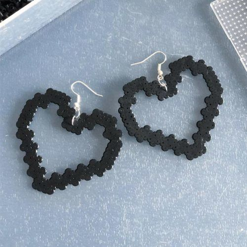 Earrings Perler Beads Idea #diyearrings